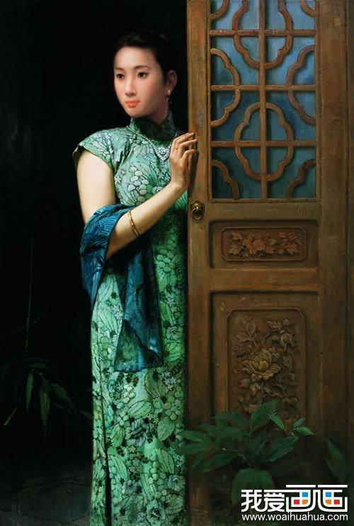 江南女性,女性人物油画,油画作品