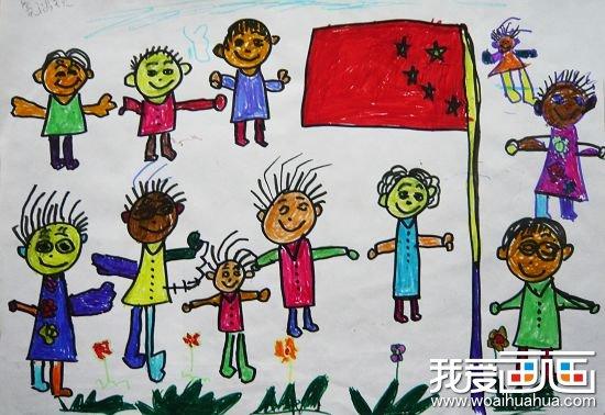 一年级国庆节儿童画