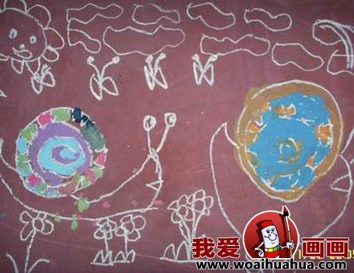 幼儿画画作品 幼儿园中班儿童绘画动物作品 2
