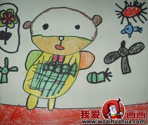 幼儿画画作品:幼儿园中班儿童绘画动物作品(6)