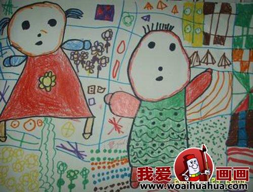 幼儿画画作品 幼儿园中班儿童绘画动物作品 3