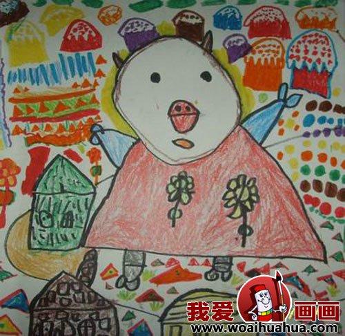 幼儿画画作品:幼儿园中班儿童绘画动物作品(5)