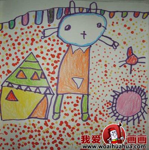 幼儿画画作品 幼儿园中班儿童绘画动物作品 7