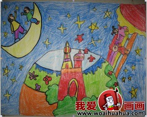 学画画 儿童画教程 科幻画 > 科幻画获奖作品:小学生科幻画大赛获奖