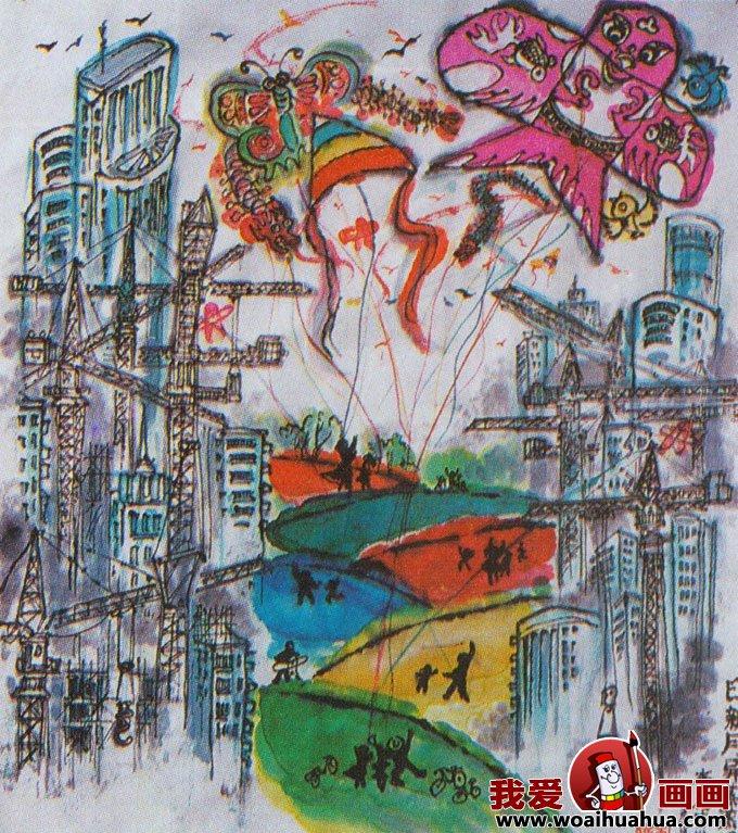 科幻画图片大全-优秀儿童科幻画作品图片欣赏(4)给城市保留一个绿色空间
