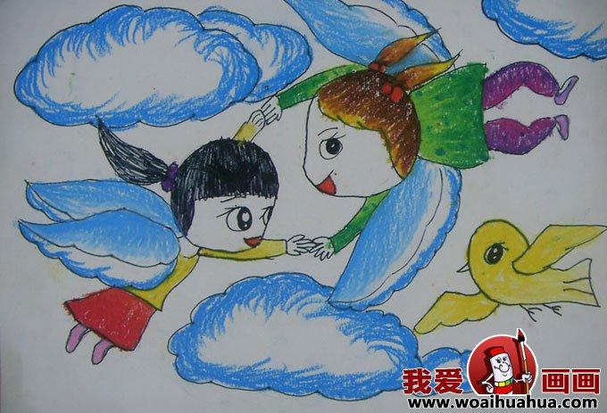 科幻画图片大全-优秀儿童科幻画作品图片欣赏(11)