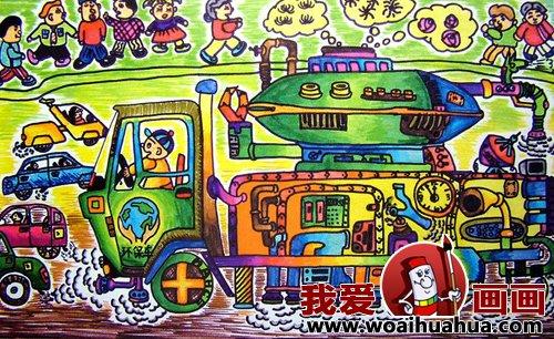 优秀中学生科幻画作品欣赏 少年儿童科幻画图片大全 2图片
