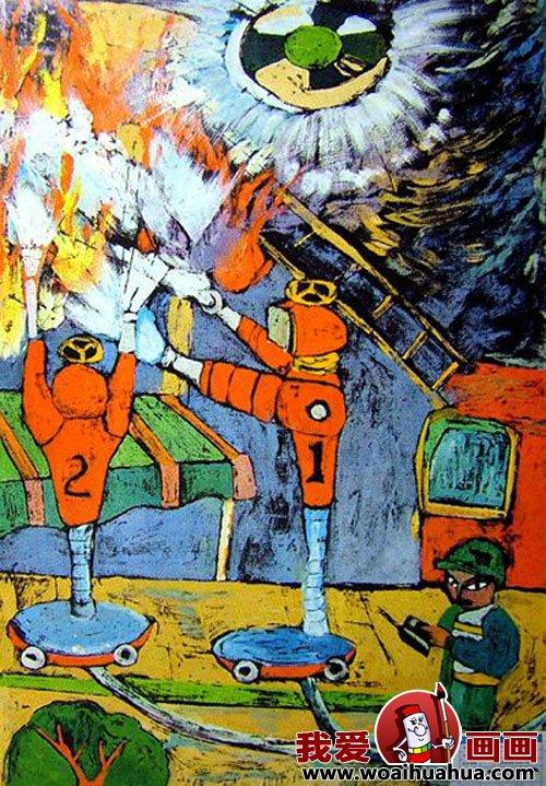 优秀中学生科幻画作品欣赏 少年儿童科幻画图片大全 5