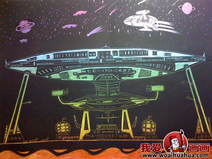 我心中的未来世界科幻画图片-儿童科幻画(2)