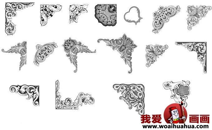 优秀黑板报花边花纹图案设计图片大全(2)