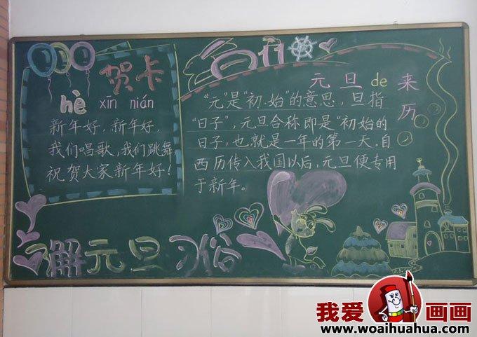 小学生庆元旦黑板报资料图片(4
