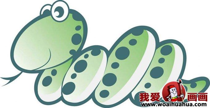 卡通画 > 卡通画蛇-各种形态的小蛇卡通画图片大全(9)  声明:我爱画画