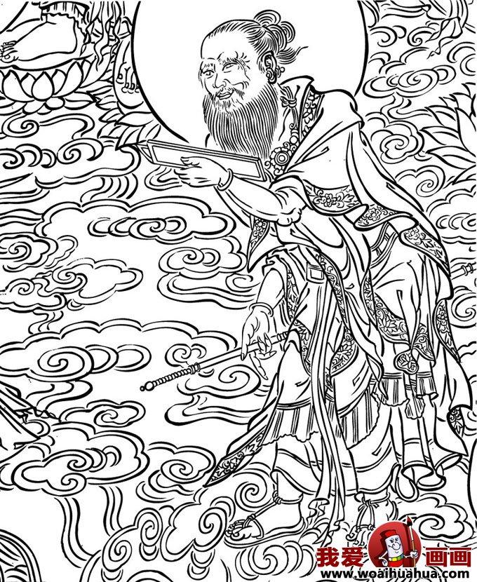 百科 中国名画 白描画 > 白描画欣赏:一组临摹敦煌壁画的人物线描图片