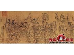 北宋《朝元仙杖图》-大型长卷绢本白描神话人物巨作