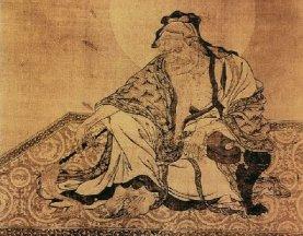 李公麟《维摩诘像》_宋代工笔神话人物白描名画作品赏析