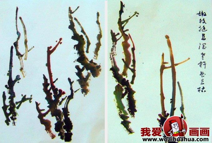 国画写意牡丹的画法步骤,牡丹的花朵叶子枝干画法(3)