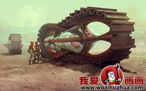 小学想象画:未来世界的交通工具科幻画(上)(8)初中苹果园科幻升图片