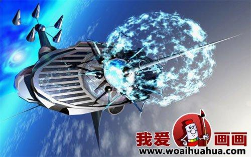 未来世界交通工具科幻画:航天飞行器科幻画图片