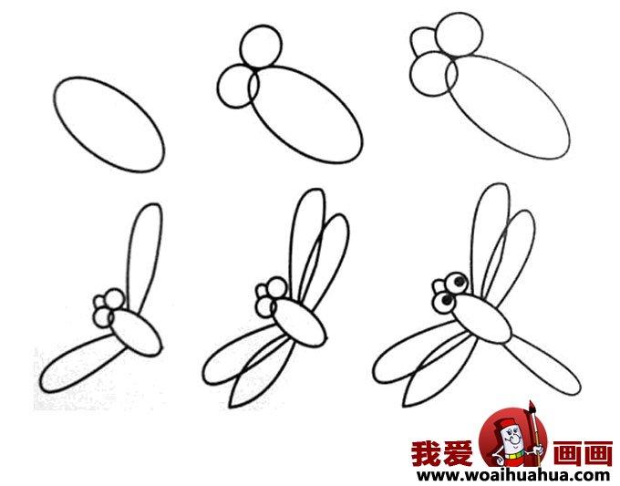 儿童简笔画教程大全 -小蜻蜓的画法图片