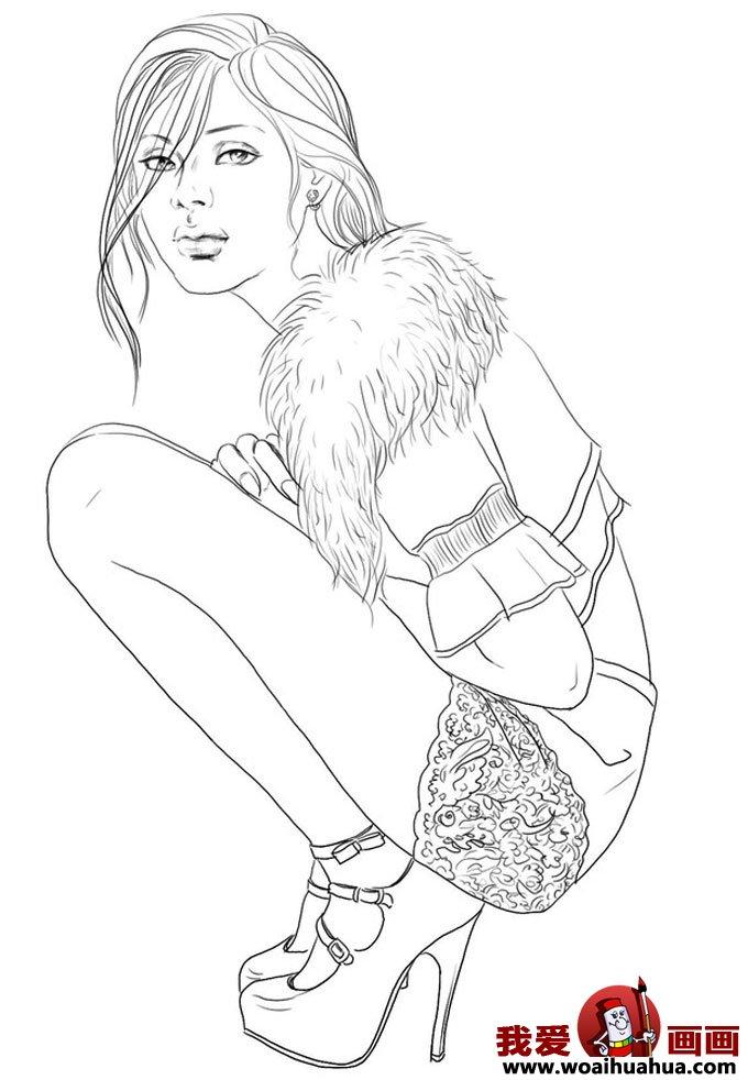 动漫美女素描图片大全 动漫美女素描图片下载