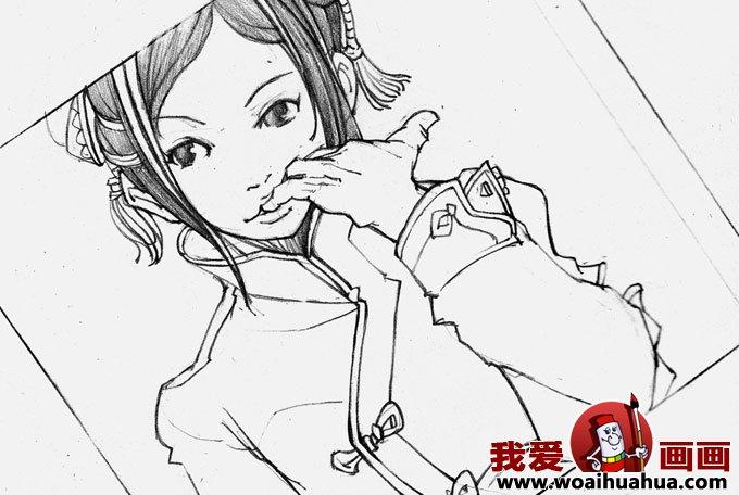 动漫人物素描:动漫美女素描图片欣赏组图(8)