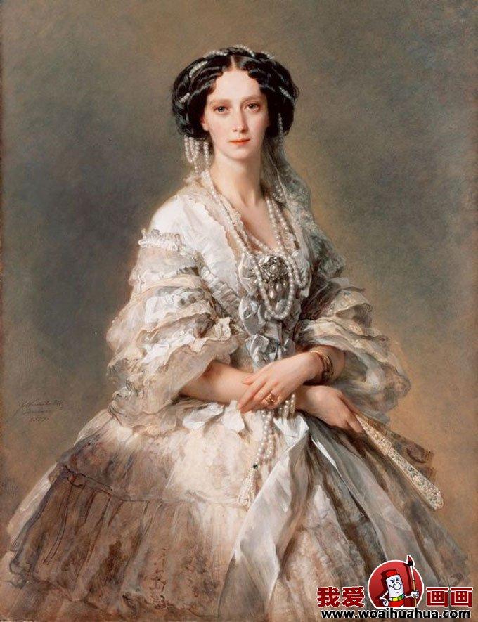 欧式宫廷古典油画人物-尊贵女性油画图片欣赏(4)