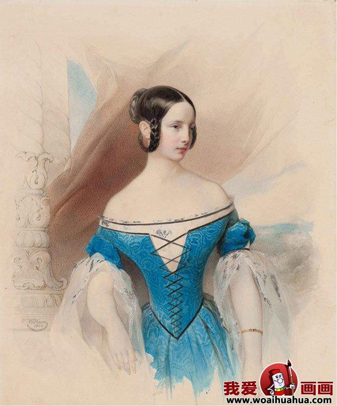 欧式宫廷古典油画人物-尊贵女性油画图片欣赏(6)