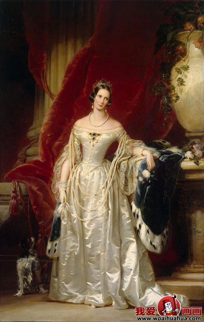 欧式宫廷古典油画人物-尊贵女性油画图片欣赏(9)