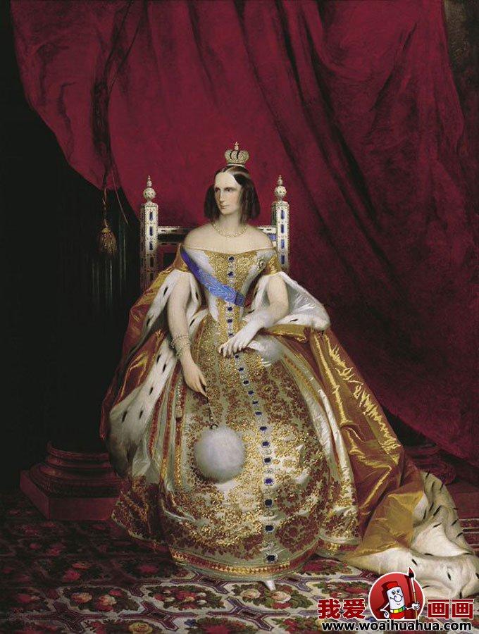 欧式宫廷古典油画女性人物图片欣赏27