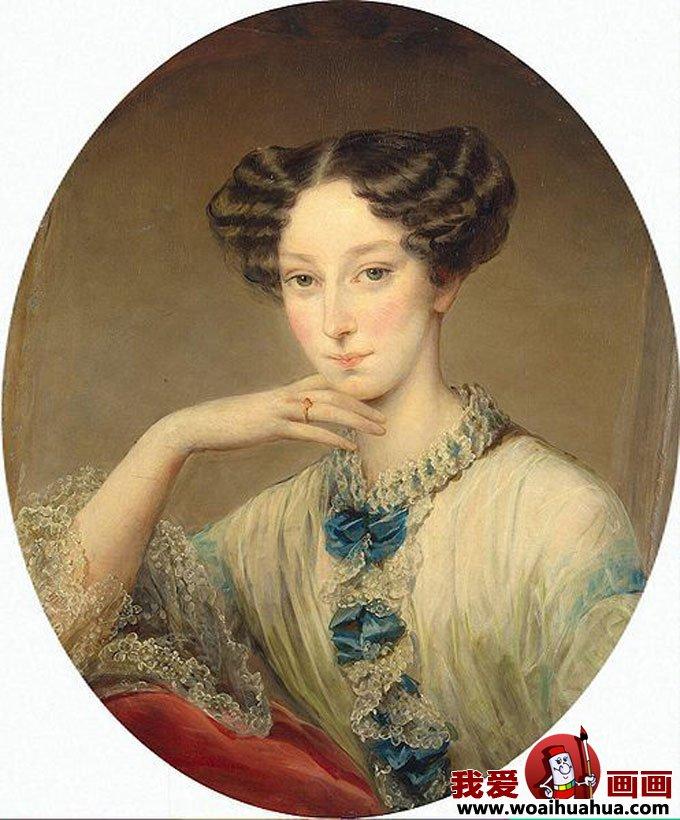 欧式宫廷古典油画人物-尊贵女性油画图片欣赏(12)