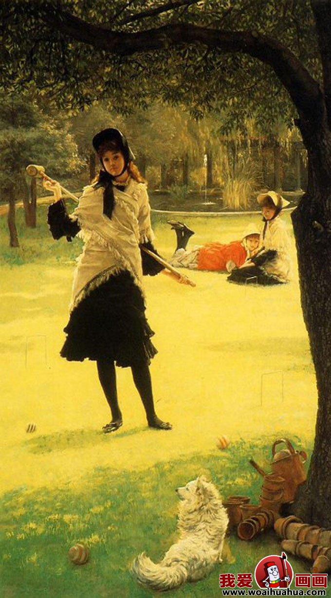 欧式古典风情油画风俗情景女性人物图片(4)