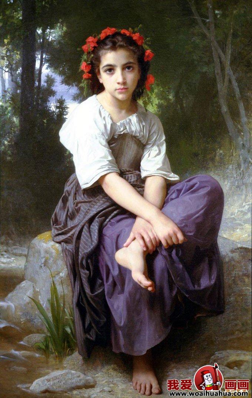 欧式古典风情油画风俗情景女性人物图片(6)