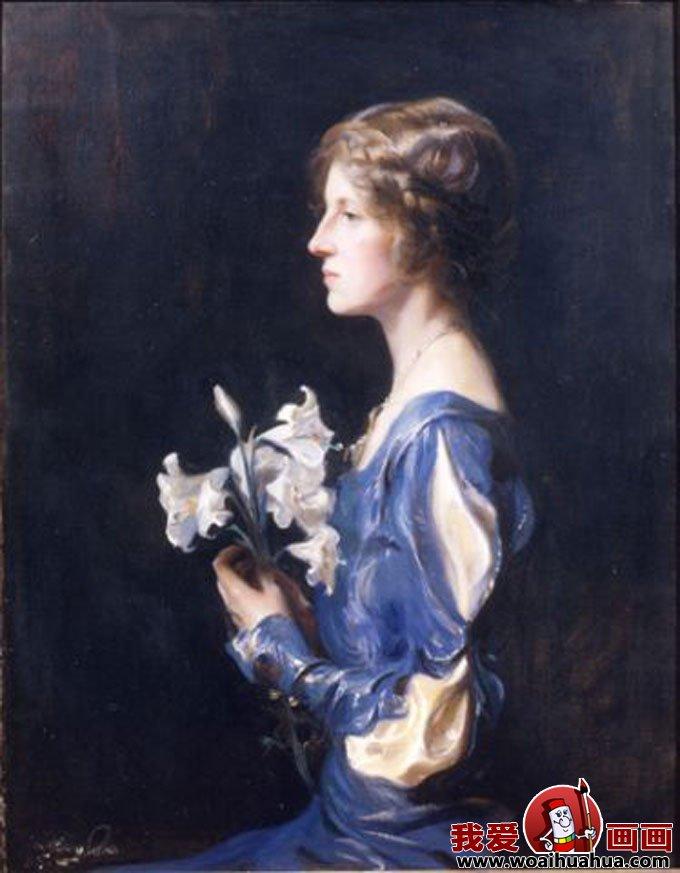 十九副欧洲古典女性人物油画高清图片(12)