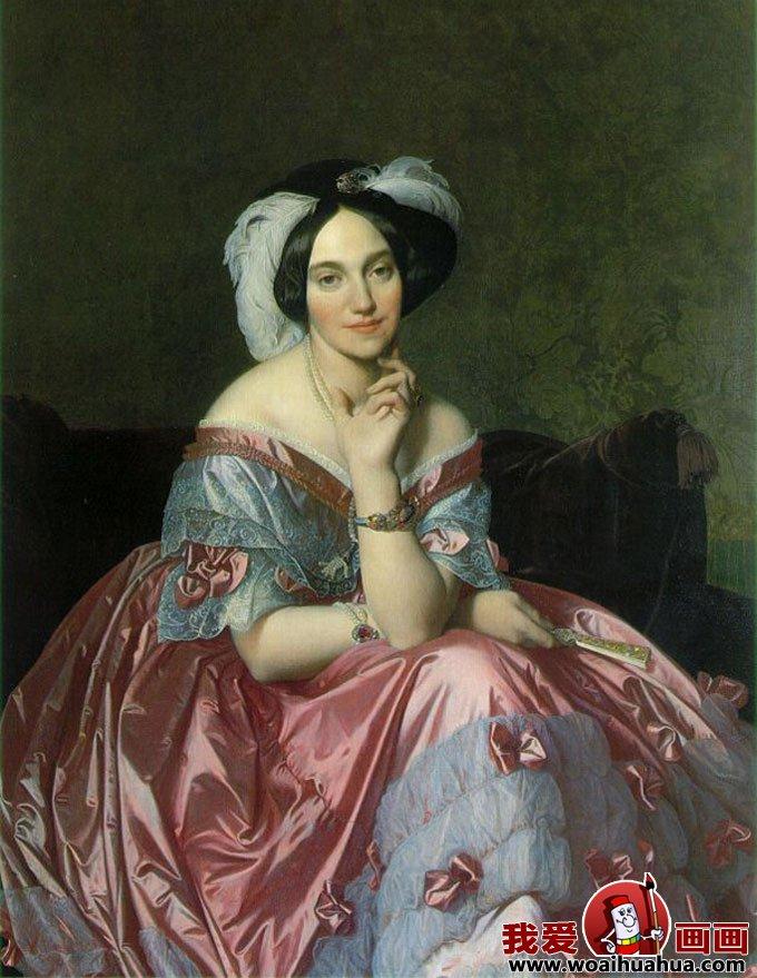 十九副欧洲古典女性人物油画高清图片