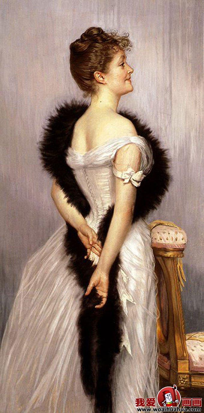十九副欧洲古典女性人物油画高清图片(8)