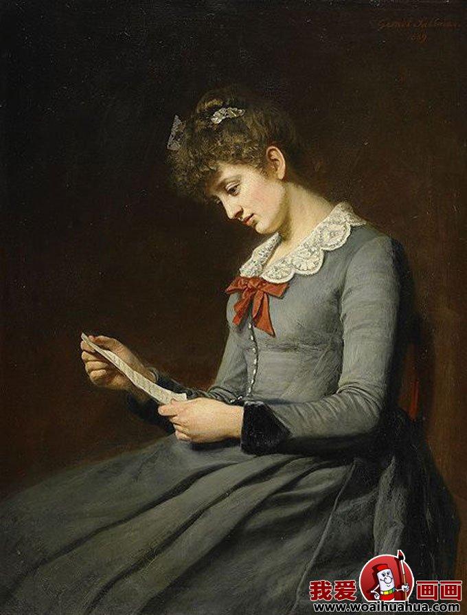 十九副欧洲古典女性人物油画高清图片(17)