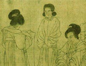 周文矩《宫中图》五代仕女白描人物画长卷