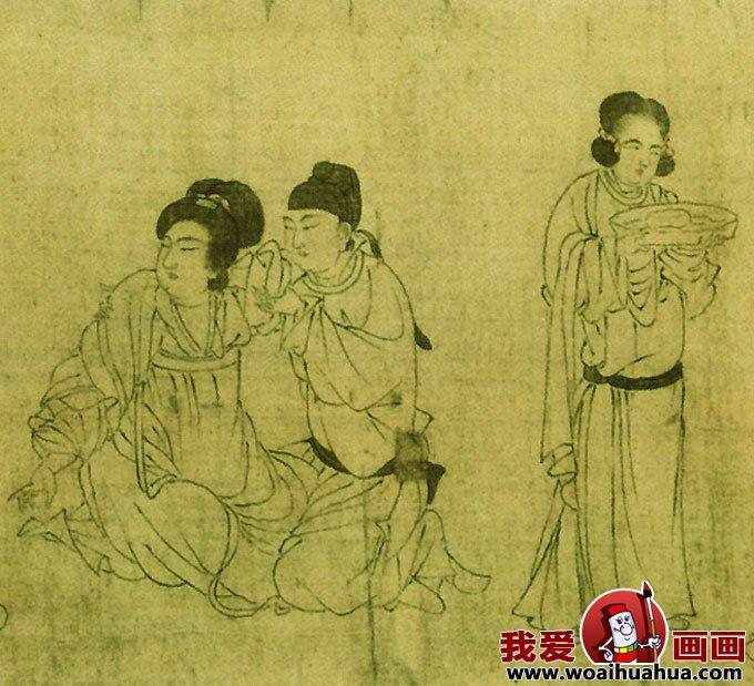 宫中图 五代仕女白描人物画长卷 3图片