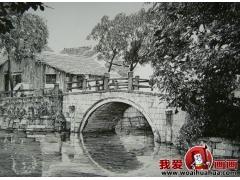 三幅钢笔画佳作欣赏:江南古镇小桥流水人家