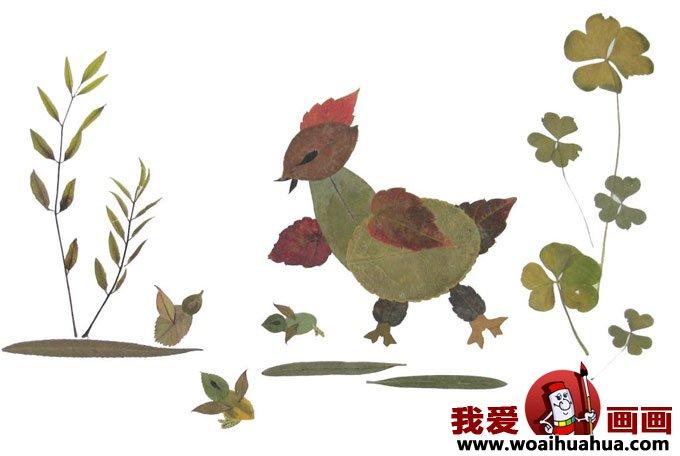 树叶粘贴画的制作图文教程:教你制作树叶粘贴画(5)