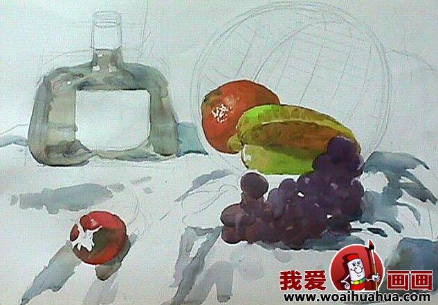 静物水彩画教程:水果的基本作画步骤(3)
