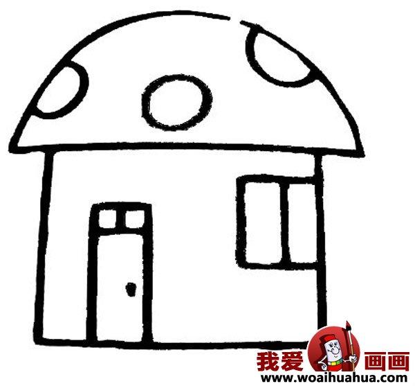 儿童画房子:可爱的小房子简笔画图片大全(3)