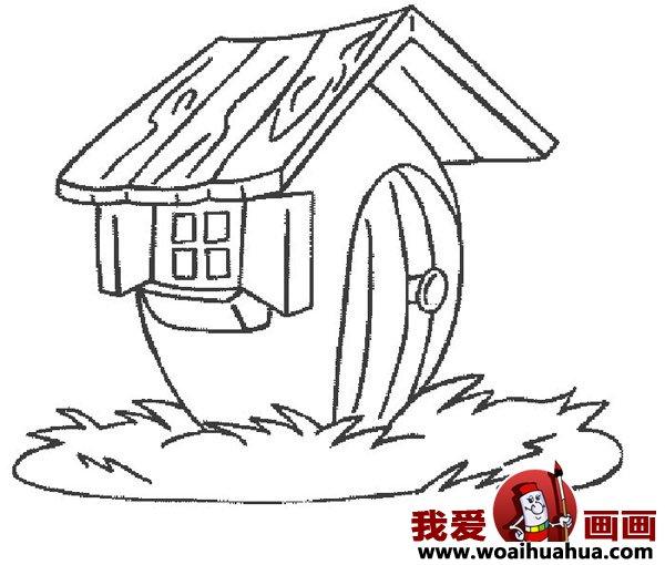 儿童画房子:可爱的小房子简笔画图片大全(5)
