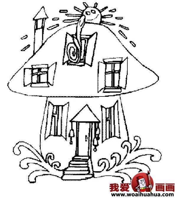 儿童画房子:可爱的小房子简笔画图片大全(6)