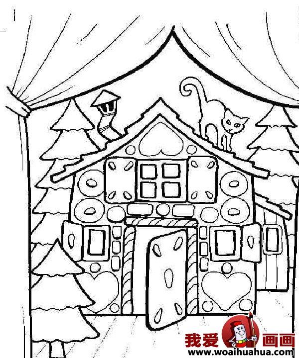 儿童画房子:可爱的小房子简笔画图片大全(8)