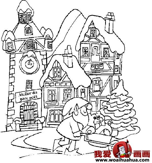 儿童画房子:可爱的小房子简笔画图片大全(9)