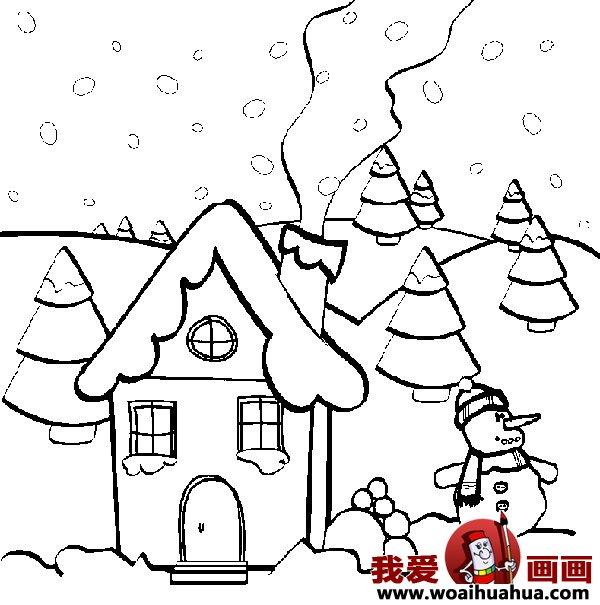 儿童画房子:可爱的小房子简笔画图片大全(10)