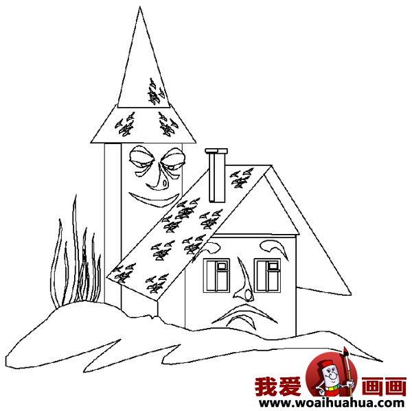 儿童画房子:可爱的小房子简笔画图片大全(12)