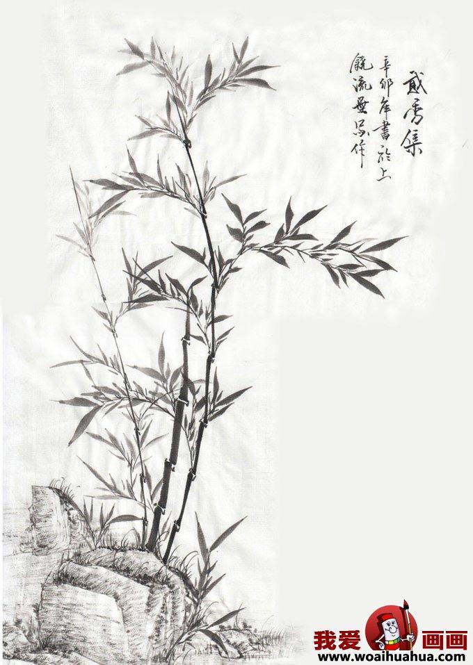 百科 中国名画 写意画 > 一组国画竹子图片:墨竹图片作品欣赏(2)图片