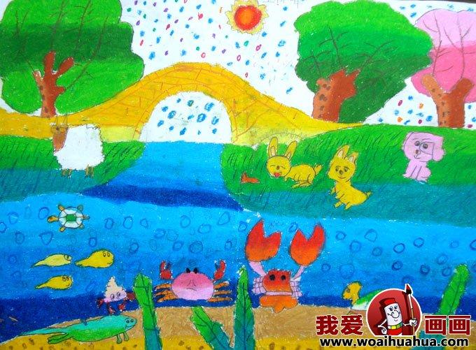 儿童画春天的图片 关于春天的儿童画作品大全图片高清图片